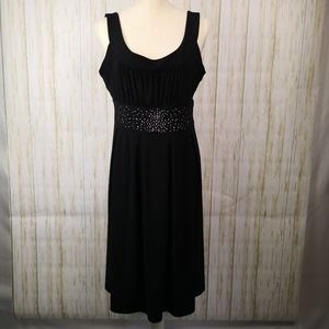 Tiana B. Empire waist with bling cocktail dress